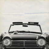 Oldtimer Background Triumph. On old paper royalty free stock photography