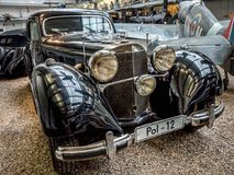 Oldtimer Benz 540 K. PRAGUE, CZECH REPUBLIC - MARCH 8 2017: Oldtimer Benz 540 K, from 1939-1942, showcased in the National Technical Museum of Prague Royalty Free Stock Photos