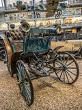 Oldtimer Benz Victoria 1893. PRAGUE, CZECH REPUBLIC - MARCH 8 2017: Oldtimer Benz Victoria 1893 in the National Technical Museum of Prague, housing historical Royalty Free Stock Photos