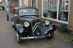 Oldtimer. A black Citroën Traction Avant oldtimer from the 1930s Stock Photos