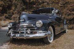 Oldtimer Blue. Background Old Car Stock Image
