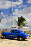 Oldtimer and boat Stock Photos