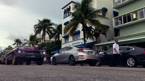 Oldtimer Burnout-Südstrand Miami stock video