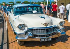 Oldtimer Cadillacs 62 am jährlichen nationalen Oldtimertag in Lelystad Stockfotos