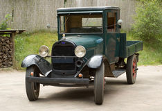 Oldtimer car. Oldtimer truck for milk transport Royalty Free Stock Photo