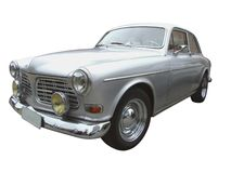 Oldtimer car. Silver oldtimer car isolated on white Stock Photography