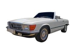 Oldtimer car. Oldtimer cabriolet car isolated on white Stock Photo