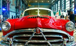Oldtimer Car. American Oldtimer Car Hudson Hornet on Custom & Tuning Show. Russia, St. Petersburg, October, 2017 Stock Image