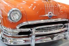 Oldtimer car chrome bumper stock image