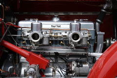 Oldtimer car engine. With space Royalty Free Stock Image