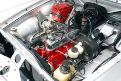 Oldtimer car engine. Detail of oldtimer car engine Stock Photos