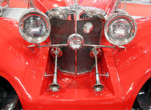 Oldtimer car horns. Front view Royalty Free Stock Image