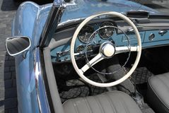 Oldtimer car interior Stock Photos