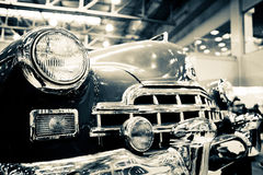 Oldtimer car. MOSCOW, RUSSIA - MARCH 09: Oldtimer car GAZ-12 ZIM 1955 in Moscow on March 09 2013. The 'Oldtimer' is the biggest exhibition of its kind in Eastern Royalty Free Stock Photography