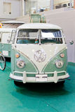 Oldtimer car. MOSCOW, RUSSIA - MARCH 09: Oldtimer car Volkswagen 23 Window Microbus in Moscow on March 09 2013. The 'Oldtimer' is the biggest exhibition of its royalty free stock photography