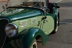 Oldtimer car. Nice green oldtimer car praga Stock Images