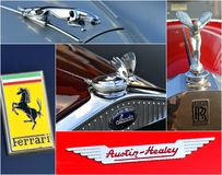 Oldtimer car  rally collage Stock Photography