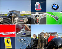 Oldtimer car  rally collage Stock Image