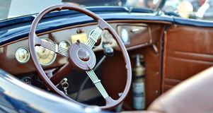 Oldtimer car in Serbia. Enterier of oldtimer car.The photo was photographed in Serbia. Half of June this year Stock Photography
