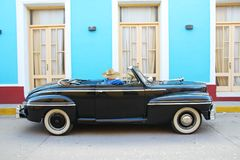 An Oldtimer car on the streets of Trinidad cuba. Oldtimer car on the streets of Trinidad cuba, retro style, travel and holiday Royalty Free Stock Image