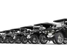 Oldtimer cars parked in a row Stock Photography