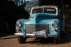 Oldtimer with Clarens License Plate in Clarens, South Africa Royalty Free Stock Photo