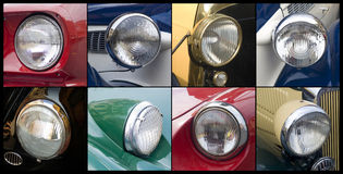 Oldtimer. Close up detail Car headlights Stock Photography