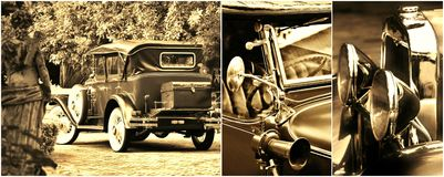 Oldtimer collage Stock Photo