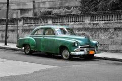 Oldtimer - Colour Key. Cuba Car Oldtimer in the Streets of Havana, Cuba - Colour Key Royalty Free Stock Photos