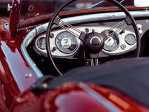 Oldtimer, Convertible, Red Stock Images