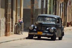 Oldtimer in Cuba. Opel Kapitän in Trinidad de Cuba stock photos