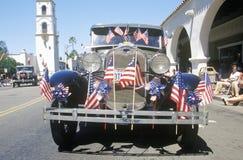 Oldtimer in 4 de Parade van Juli, Ojai, Californië Stock Fotografie