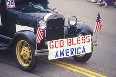 Oldtimer in 4 de Parade van Juli, Vreedzame Palissaden, Californië Royalty-vrije Stock Afbeelding