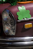 Oldtimer dressed up for St. Patrick's Day Parade Royalty Free Stock Photography