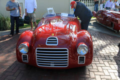 Oldtimer Ferrari racecar front view Royalty Free Stock Photos