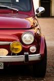 Oldtimer Fiats 500 Abarth in Turin Lizenzfreies Stockbild