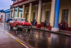 Oldtimer, Holguin, Cuba Stock Photo