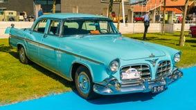 Oldtimer impérial de couronne de Chrysler au jour national annuel d'oldtimer dans Lelystad Photographie stock