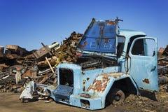 Oldtimer  on junkyard Stock Photos