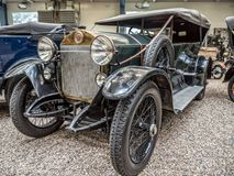 Oldtimer Laurin & Klement RK-M. PRAGUE, CZECH REPUBLIC - MARCH 8 2017: Oldtimer Laurin & Klement RK-M, manufactured between 1913 and 1921, showcased in the Royalty Free Stock Image