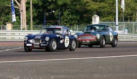 Oldtimer-Le Mans-Stromkreis Lizenzfreie Stockfotos