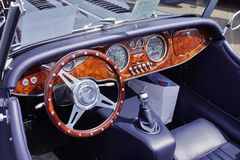 Oldtimer Morgan. Inside view of a beautiful oldtimer Royalty Free Stock Images