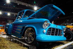 Oldtimer op auto toont Stock Foto