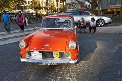 Oldtimer Opel Olympia en el OldtimerCity 2011 en Frankfurt-am-Main Fotos de archivo