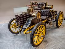 Oldtimer racing car NW 12 HP Rennzweier. PRAGUE, CZECH REPUBLIC - MARCH 8 2017: Oldtimer racing car NW 12 HP Rennzweier from 1900, National Technical Museum of Stock Photography