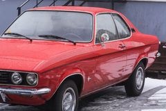Oldtimer, red Opel Manta Stock Images