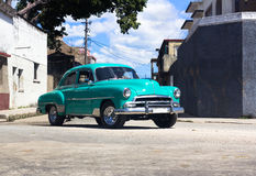 A Oldtimer on the road in Cuba Stock Image