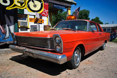 Oldtimer Route 66. Oldtimer beside the old Route 66, Seligman/Arizona, USA Stock Photography