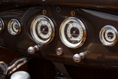 Oldtimer's dashboard's Ford Model A Stock Photo