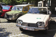Oldtimer Show Skopje 2016. SKOPJE MACEDONIA - MAY 07 2016: Old Citroen on 11th Old Timer Car Show, May 07, 2016 in Skopje. The event organized by Euroimpex from Royalty Free Stock Photography